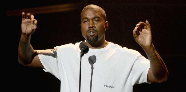 Kanye West speaks during his four minutes of airtime at MTV's Video Music Awards. Photo/Getty