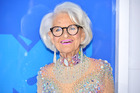 Wearing a nude coloured jumpsuit dotted with gemstones and jewels, Baddie Winkle was complete with a bedazzled cane. Basically, she rocked it. Photo / Getty Images