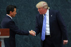 President of Mexico Enrique Pena Nieto greets US Republican presidential candidate Donald Trump during a meeting at Los Pinos. Photo / Getty