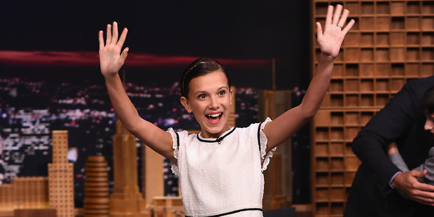 Loading Millie Bobby Brown visits The Tonight Show Starring Jimmy Fallon. Photo / Getty