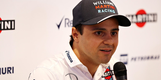 Felipe Massa talks to the media in a press conference. Photo / Getty Images