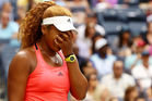 Naomi Osaka of Japan reacts in her match against Madison Keys. Photo / Getty