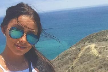 Four weeks ago Melina Roberge was in paradise. Now she's been arrested for trafficking drugs. Photo / Instagram
