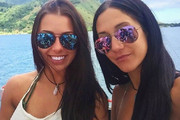 Melina Roberge and Isabelle Lagace all smiles during the two month trip. Photo / Instagram