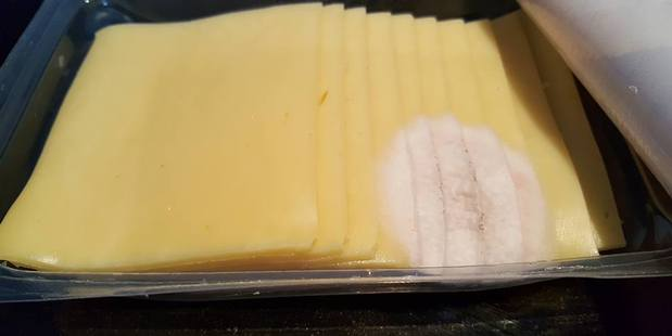 Mouldy cheese a Countdown Silverdale customer bought in the weekend. Photo / Facebook
