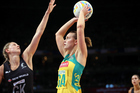 Diamonds shooter Natalie Medhurst was one of the players to speak out about the possible two-point rule change. Photo/PHOTOSPORT