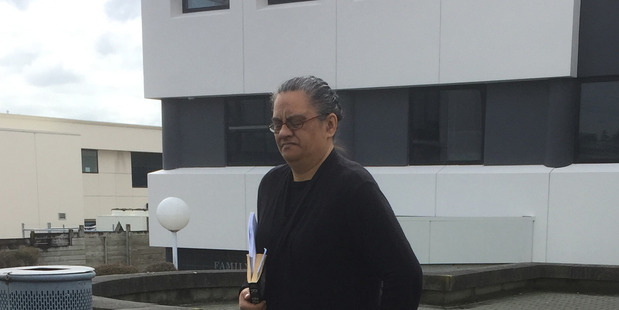 Former IRD employee Deanna Isherwood leaves the Hamilton District Court after admitting tax evasion charges totalling around $600,000. 01 September 2016 New Zealand Herald Photograph by Belinda Fe