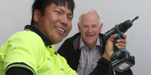 Nepal ex-pat Tak Gurung, pictured with Nepalese Association BOP patron Peter Gibbs, will return to Nepal in October to build a school with funds raised by the Bay community. Photo/John Borren