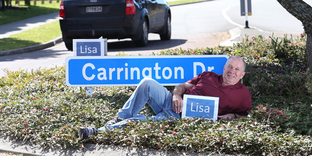 Loading Papamoa man Les Attwell has renamed his street in honour of one of the Bay of Plenty's golden stars of the Olympics. PHOTO/JOHN BORREN