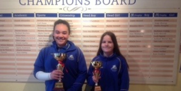 WELL DONE: Duchess McPherson and Jovana Jotev.