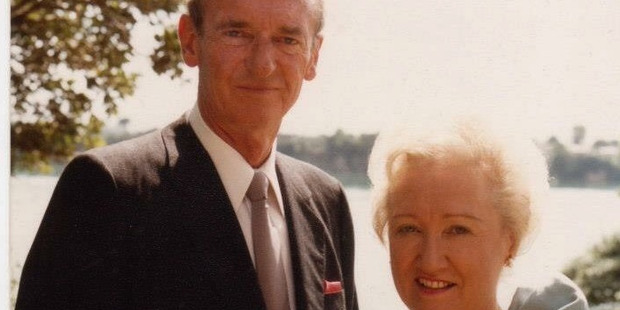 Louise Wallace (star of Real Housewives of Auckland) parents, Russ and Leona. Photo / supplied