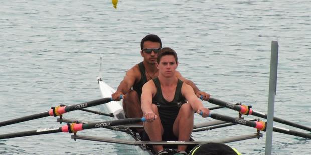 TOP SPORT: Otumoetai College Rowing Club's Kieran Ngatai and Callum Mowat. PHOTO:SUPPLIED