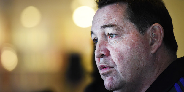 All Blacks Coach Steve Hansen during a press conference at the Spencer on Byron Hotel, Auckland, New Zealand. Photo / Andrew Cornaga - Photosport.