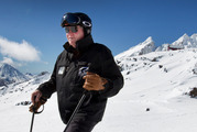 Dave Mazey at Delta Corner, site of the top station and cafe for Ruapehu's planned gondola. Photo / Alan Gibson