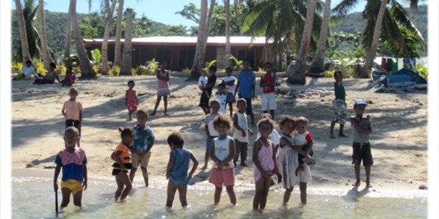 The pristine beaches of the Yasawas are a playground for children whose smiles entrance visitors.