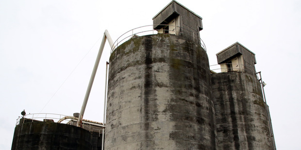 These disused cement silos at Whanganui's port will be demolished as part of the port rejuvenation plan. PHOTO/STUART MUNRO