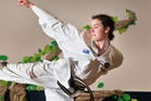 TOP CLASS: ITF Junior World champion Frances Lloyd training at Silla Taekwondo in Te Puna. PHOTO/ANDREW WARNER