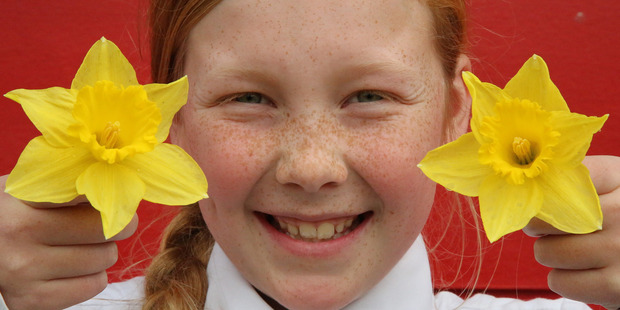 Jessica Dunkerton 11, of Faith City School in Whanganui was helping to raise funds for the Cancer Society on Friday.