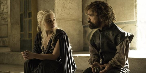Game of Thrones Season 6 episode with Emilia Clarke and Peter Dinklage as Daenerys and Tyrion. Photo / HBO