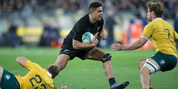 All Blacks second five-eighths Anton Lienert-Brown showed himself to be a new talent. Photo / Mark Mitchell