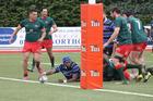 Simeli Konifredi's try got Wanganui Development back into the game against Wairarapa-Bush Development on Saturday.