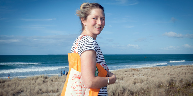 Charlotte Manville is behind Boomerang Bags which brings the community together to make reusable bags to reduce the amount of plastic ending up in the environment. Photo/Andrew Warner