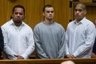 Steven Betham, Levi Reuben and Akuhatua Tihi at their High Court trial earlier this year. Photo / Fairfax Pool