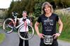 Extreme triathlete Lyndy Wickham with husband Steve. Photo/George Novak
