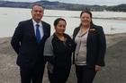 Sudima Lake Rotorua manager Atalo de la Rocha, Te Waiwakaata Kingi-Tait (Wai) and Sudima HR adviser Karley Benham. PHOTO/SUPPLIED