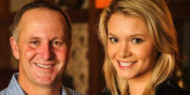 Sarah Higgins, a local board member and Young Nat, with Prime Minister John Key. Photo / Supplied