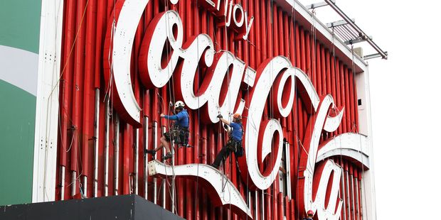 The iconic Coca Cola billboard on Darlinghurst Road in Kings Cross, Sydney. Photo / Jonathan Ng