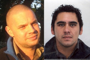 Regan Ingley (left) was mistaken for armed man Joshua Kite (right). Photos / supplied