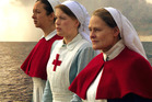 Alex Ellis, Anthea Hill and Donogh Rees star in Sister Anzac.