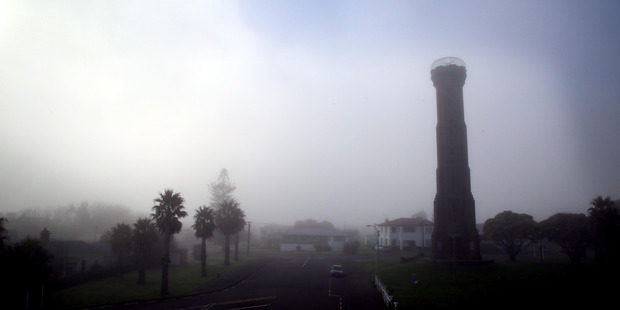 A misty Whanganui morning with Durie Hill tower in the foreground. PHOTO/STUART MUNRO