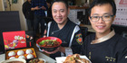 Taiwanese top chefs Chia-Cheng Lee, left, and Po-Chang Huang are in New Zealand for the Auckland Taiwan Food Festival. Photo / Lincoln Tan