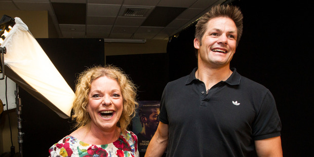 Newstalk ZB host Kerre McIvor has a one on one sit down with Richie McCaw. Photo / Jason Oxenham
