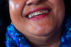 Ane Tonga's work is part of an ongoing photographic investigation that explores nifo koula (gold teeth) as a popular and relatively new form of Tongan body adornment.