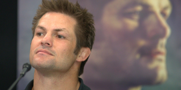 Richie McCaw at the Chasing Great press conference. Photo / Jason Oxenham