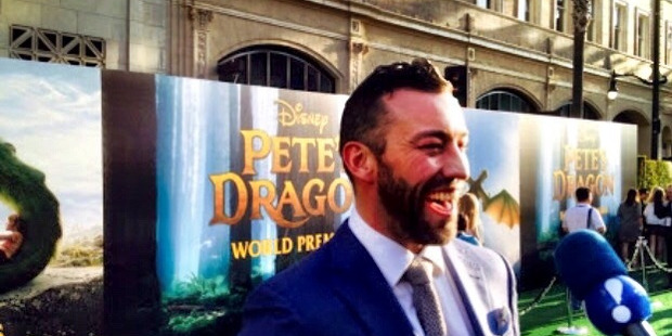 Aaron Jackson at the Hollywood premiere of Pete's Dragon.