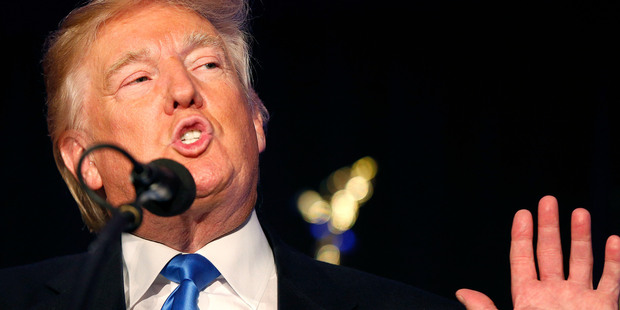 Republican presidential candidate Donald Trump speaks at a campaign rally. Photo / AP
