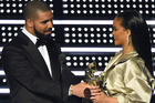 Are Drake and Rihanna together? They sure look like it in this photo. Photo / AP
