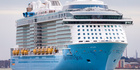 Ovation of the Seas is too big to berth in Auckland