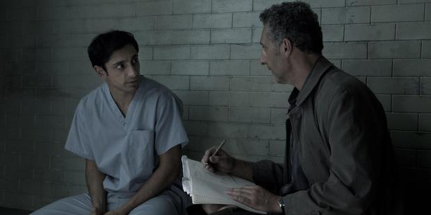 Riz Ahmed and John Turturro in the HBO television drama The Night Of.