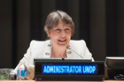 Helen Clark told the Herald that she remained a strong and serious candidate. Photo / UN