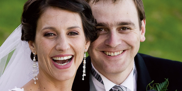 "Lecretia Seales with her husband Matt Vickers on their wedding day in 2006. Vickers' book ""Lecretia's Choice"" (Text Publishing) was launched at Parliament tonight. Photo Nicola Topping"