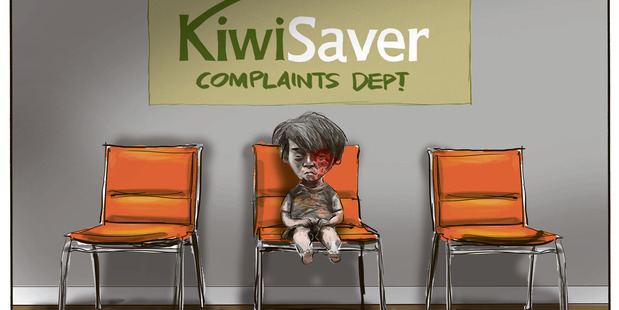 An NZME investigation found that more than a dozen KiwiSaver providers had made direct investments totalling $43 million with companies making cluster bombs, landmines and nuclear weapons. Cartoon: Rod Emmerson