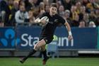 New Zealand All Blacks 1st-five Beauden Barrett scores against Australia. Photo / Brett Phibbs