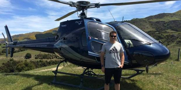 Richie McCaw has offered to pilot a private helicopter flight, which will be one of the prizes auctioned off after the rugby and netball matches on Saturday. Photo / Richie McCaw Facebook