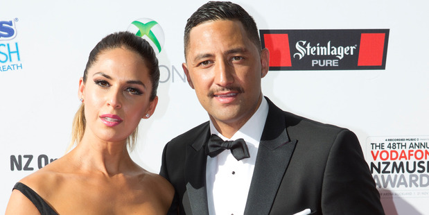 Benji Marshall with wife Zoe Marshall on the red carpet at the New Zealand Music Awards in 2013. Photo / Dean Purcell