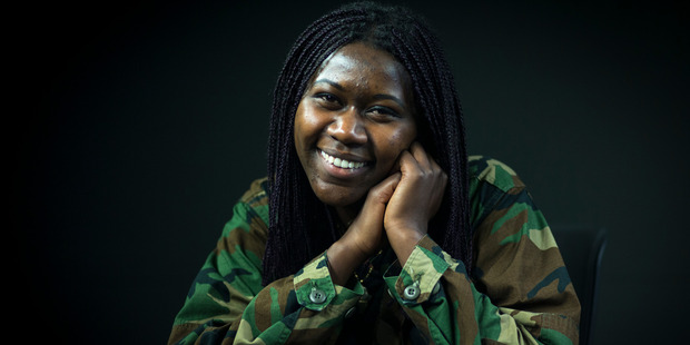 Loading Former refugee Adorate Mizero who is working on a film project where she is interviewing Kiwi teens about racism. Photo / Dean Purcell
